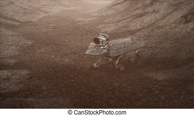 Opportunity Mars exploring the surface of red planet -...