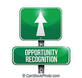 opportunity recognition road sign illustrations design over...