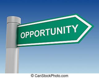 opportunity sign 3d illustration