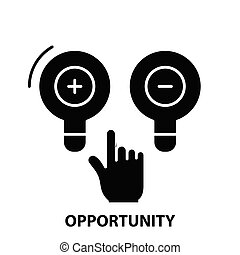 opportunity symbol icon, black vector sign with editable strokes, concept illustration