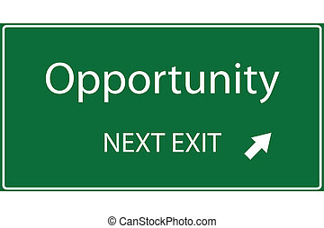 Vector illustration of a green Opportunity sign