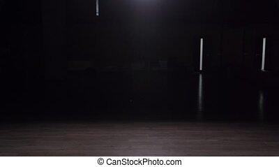 opróżniać, ciemny, studio