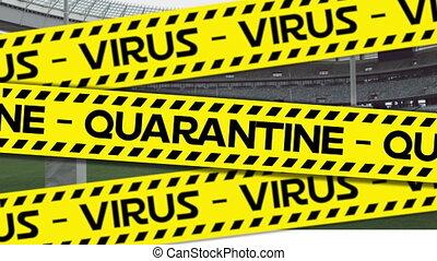 opróżniać, czarnoskóry, żółty, wirus, na, kwarantanna, ...