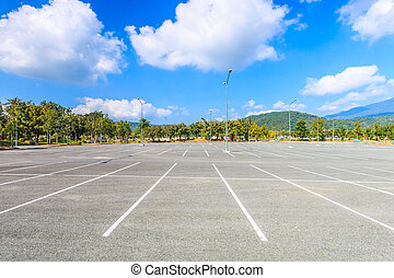 opróżniać, parking
