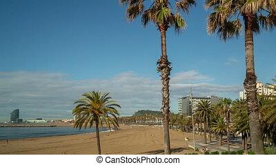 opróżniać, prawie, barcelona, plaże