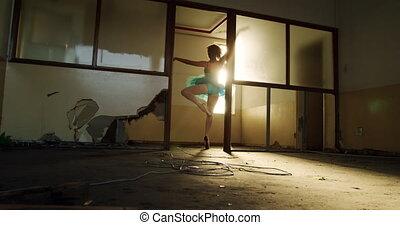 opróżniać, samica, magazyn, tancerz