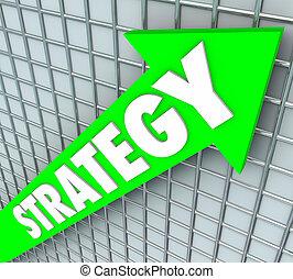 opravit, vyplývat, růst, strategie, povstání, nezkušený, šipka, vzkaz