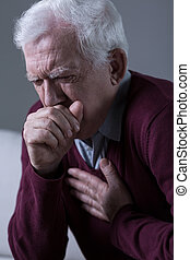 Opressive cough - Old man has opressive cough