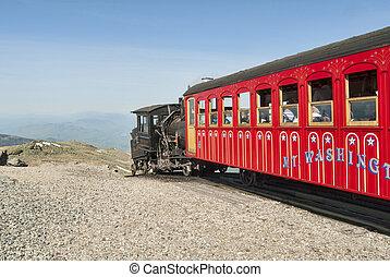opstellen, washington, cog, trein