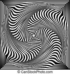 opt, black , witte , kunst, achtergrond