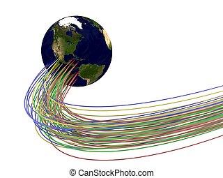 Optic fibres