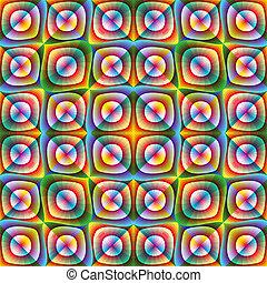 Optic illusion illustration - Psychedelic design in full ...