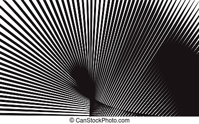 optical art background black and white vector