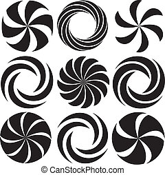 Optical Art - Collection of Spirals