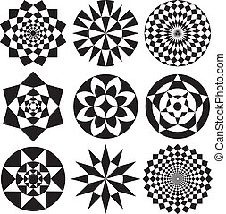 Optical Art Flowers