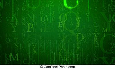 Optical art letter illustration