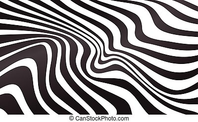 optical art opart striped wavy background abstract waves ...