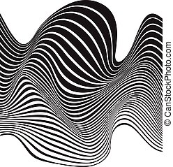 optical art opart striped wavy background