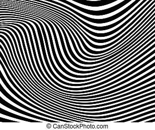 optical art opart striped wavy background