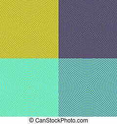 Optical Art. set of spirals. 10 eps
