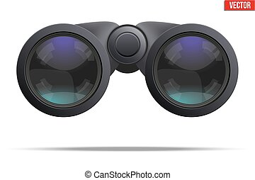 Optical binoculars vector