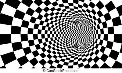"""Optical black and white passage illusion"" - ""A mesmerizing..."