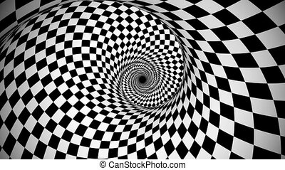 """""""Optical black and white spinning fantasy"""" - """"An optical art..."""