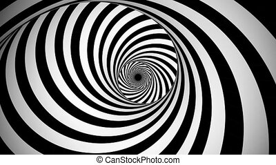 """Optical black and white whirling illusion"" - ""A psychedelic..."