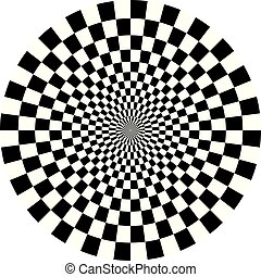 Optical Checkered Circle