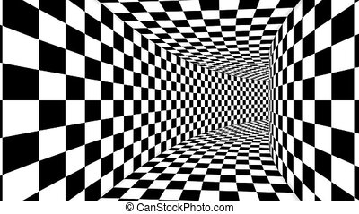 """Optical Cubic Black and White Illusion"" - ""An innovative 3d..."