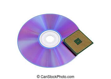 optical disk and CPU