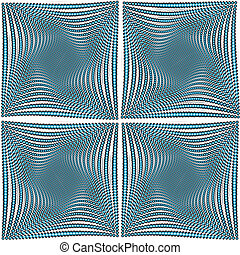 Optical effect, abstract doted background