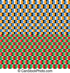 Optical effect of movement. Vector