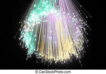 optical fiber - Optical fiber produce in the darkness a...