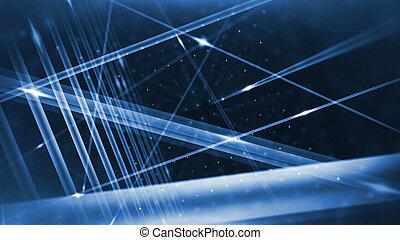 Optical fibers animation