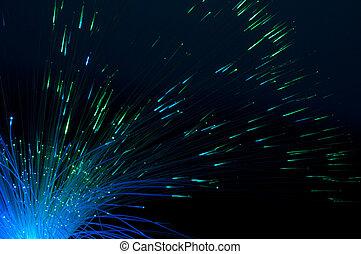 Optical fibers - Blue colors optical fibers