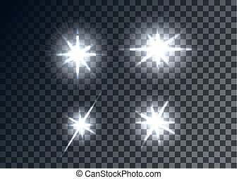 Optical flares, transparent background