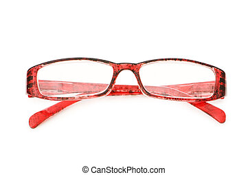 Optical glasses isolated on the white background
