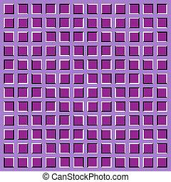 optical illusion. apparent motion