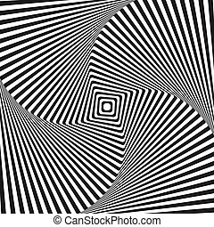 Optical illusion art square vector background