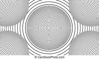 Optical illusion black and white seamless looping hypnotic ...