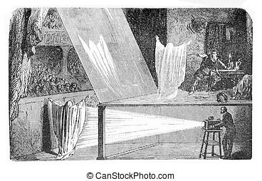 optical illusion, John Pepper phantom vintage engraving