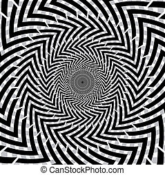 Optical illusion of motion. - Optical illusion of motion...