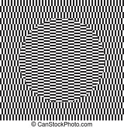 Optical illusion of torsion and rotation movement. Dynamic effect.