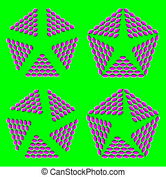 Optical illusion - Opening optical illusion - vector