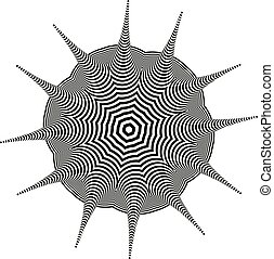Optical illusion pattern on white