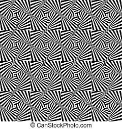 Optical illusion, seamless pattern eps 10 - Optical...