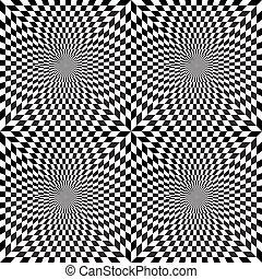 Optical illusion. Seamless pattern