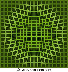 optical illusion - abstract design with geometric shapes,...