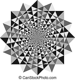 Optical Illusion - abstract design with geometric shapes...